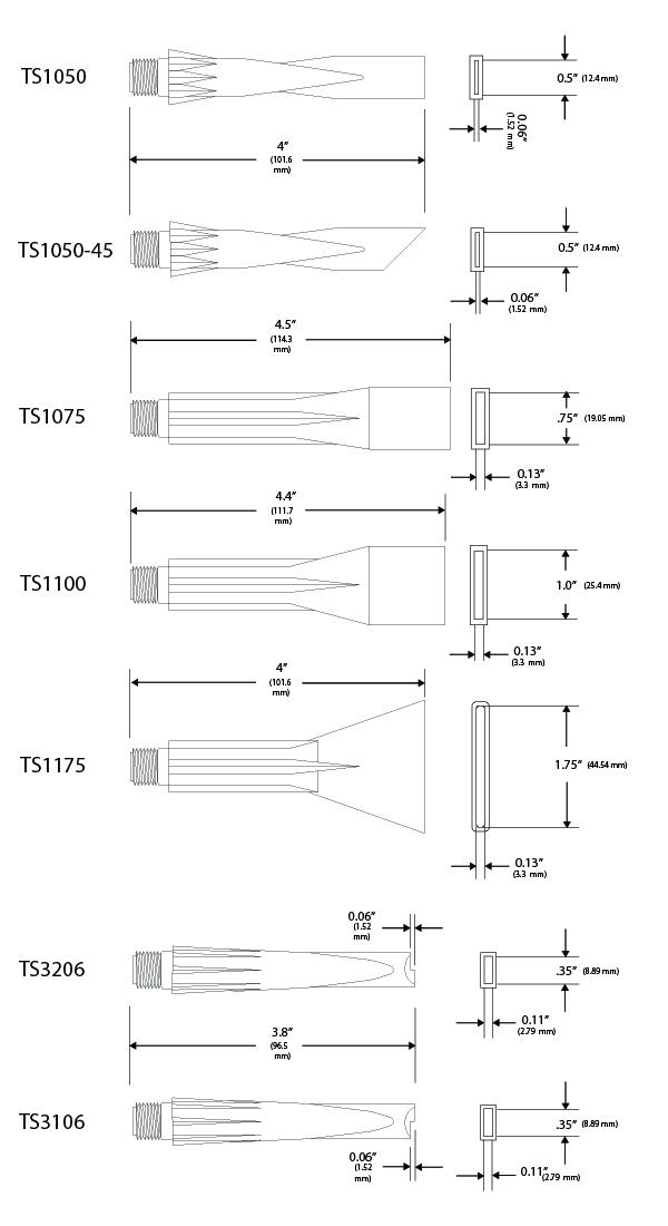 TS1050, TS1050-45, TS1075, TS1100, TS1175, TS3206, TS3106