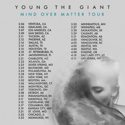 Young THe Giant Mind over Matter tour