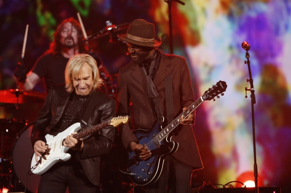 Joe Walsh (Eagles), Dave Grohl (Foo Fighters), and Gary Clark Jr. (Photo Courtesy of CBS)