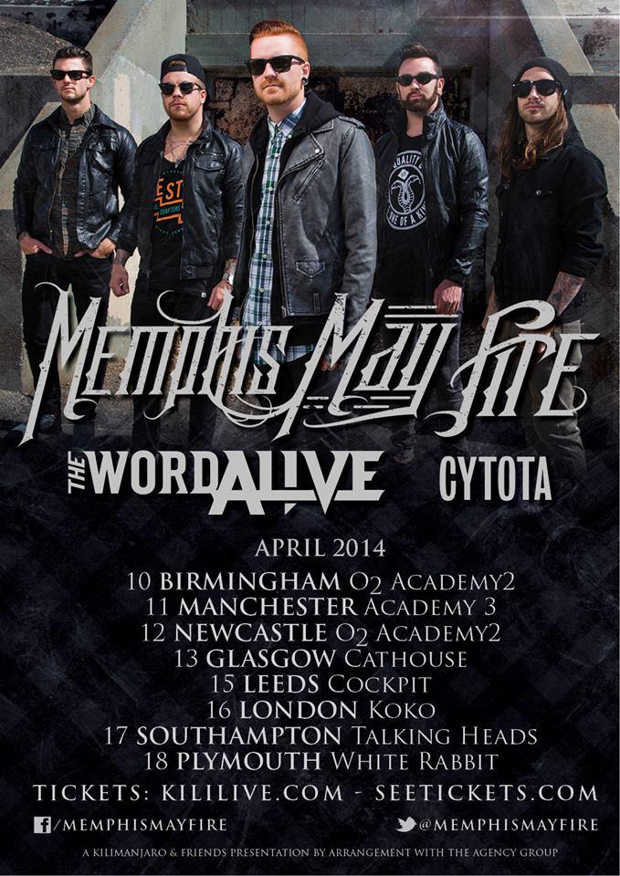 Memphis May Fire UK 2014