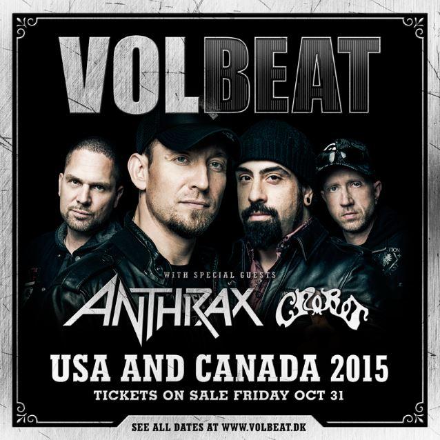 Volbeat Anthrax 2015