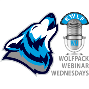 Our campus station, KWLF, gathers our pack and broadcasts Wolfpack Webinar Wednesdays across the globe every Wednesday at noon Pacific
