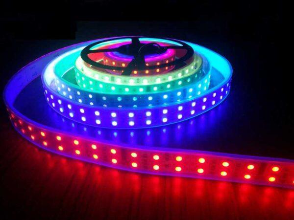 5M 600 font b led b font Double Row font b LED b font Light TM1812   LED Corner