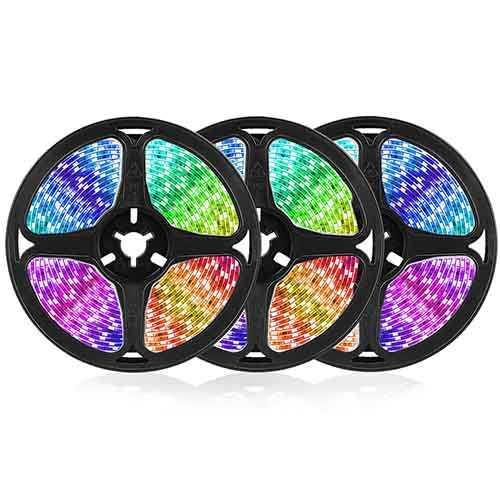 Goodland RGB LED Strip Light 12V Ribbon LED Lights Strip RGB Tape 5050 2835 Flexible Diode