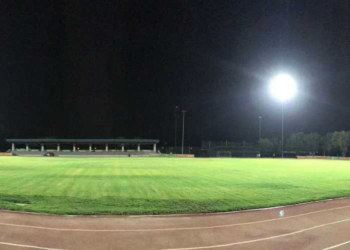 Higher College Of Tecahnology Football stadium Lighting Project | LED Corner