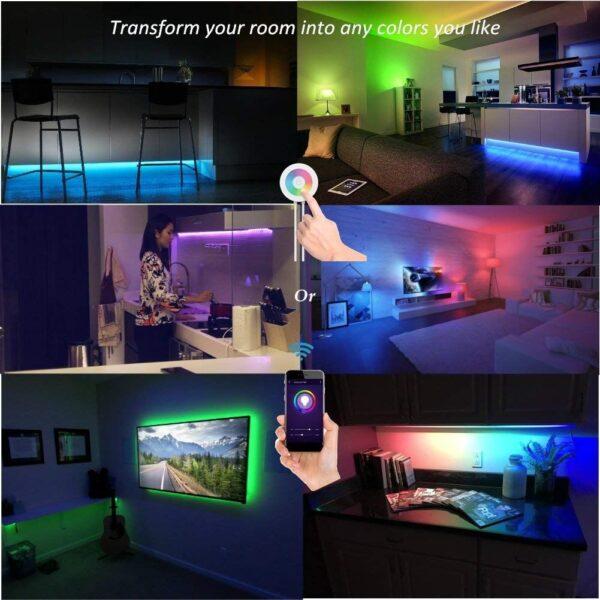 Smart Wi Fi RGB LED Strip Light Kit Bright 5050 30 LED 12V WaterproofIP 54 01 01 | LED Corner
