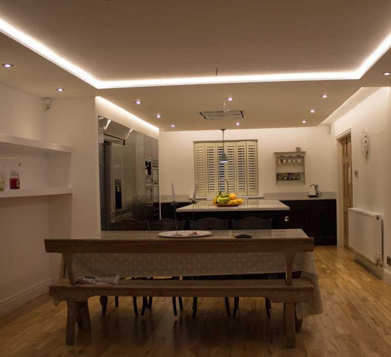 warm white RGBW strip lights