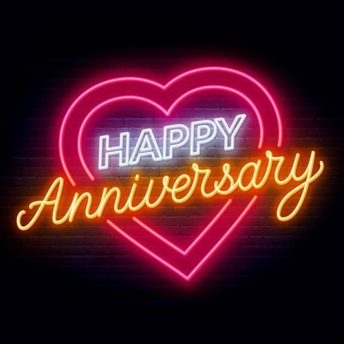 Happy Anniversary - LED Neon Sign