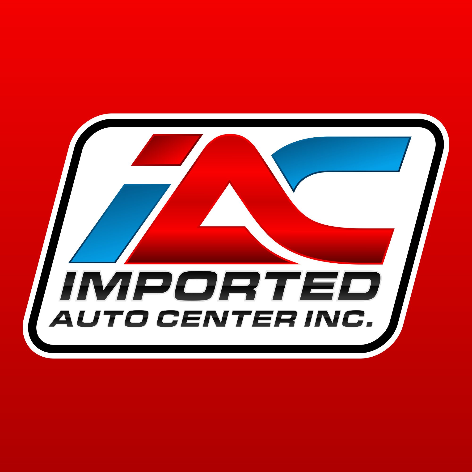 Red imported auto logo