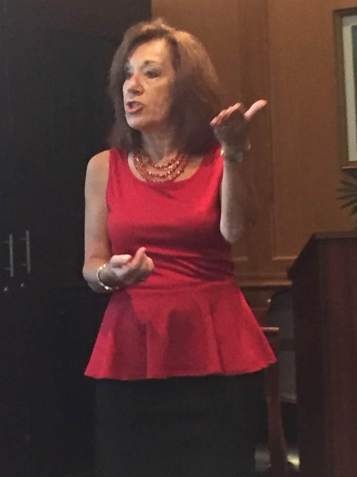 Christine Catoggio Speaking at an event