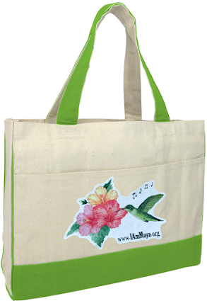CANVAS TOTE BAG, NATURAL/LIME