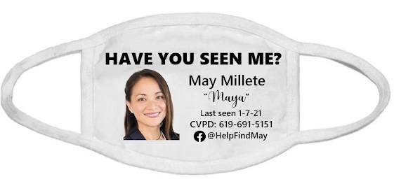 """MASK: """"Have You Seen Me?"""" (white)"""