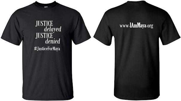 #JusticeForMaya T-SHIRT, BLACK