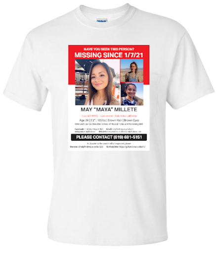 """""""MISSING SINCE 1/7/21"""" T-SHIRT, WHITE"""