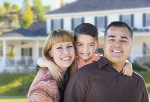 happy family getting the best mortgage rates