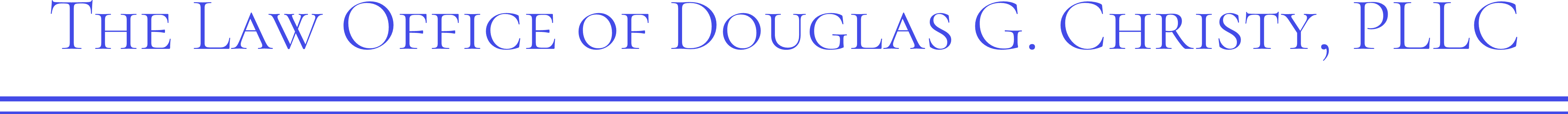 The Law Office of Douglas G. Christy, PLLC Logo