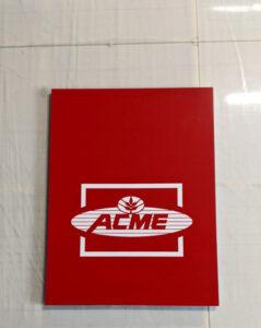 Acme Acrylic Sign