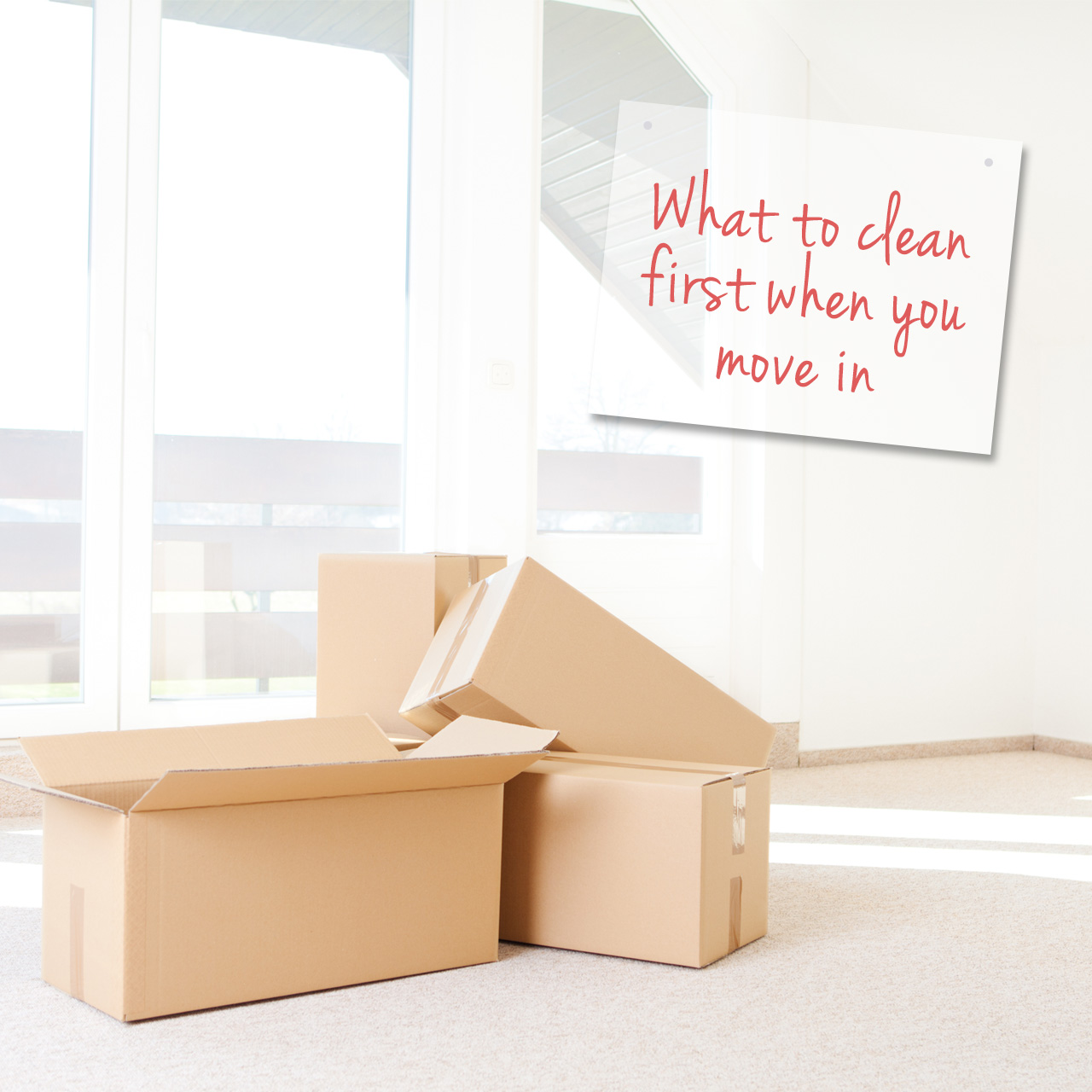 move in cleaning- what to clen first