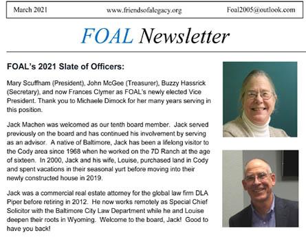Produce a bi-annual newsletter.