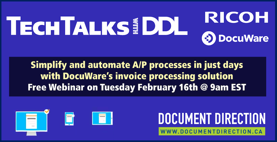 TechTalks with DDL - simplify A/P free webinar Feb 16th at 9am