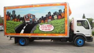 camion de déménageur