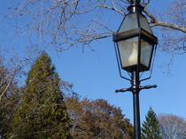 gas lamp on the street
