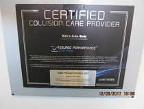 collision car certificate
