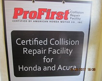 certificate from Honda