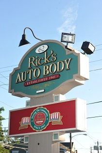 our Ricks Auto Body sign