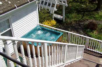 Cambridge house hot tub