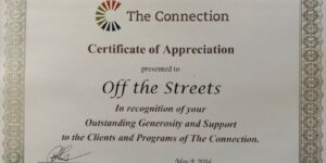 Certificate of Appreciation - The Connection