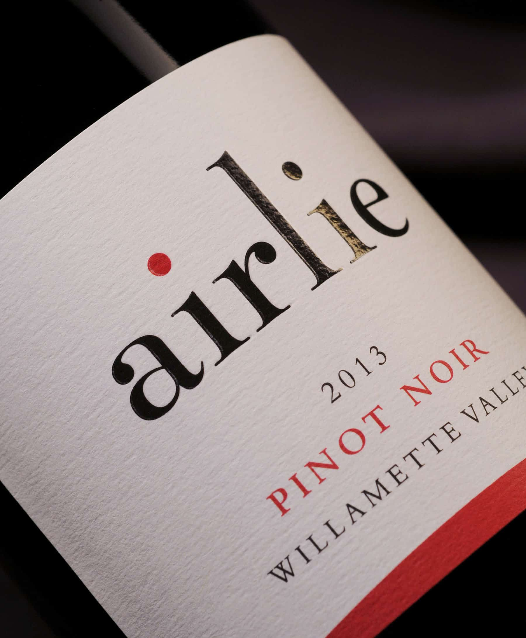 Airlie Winery 2013 Pinot Noir label
