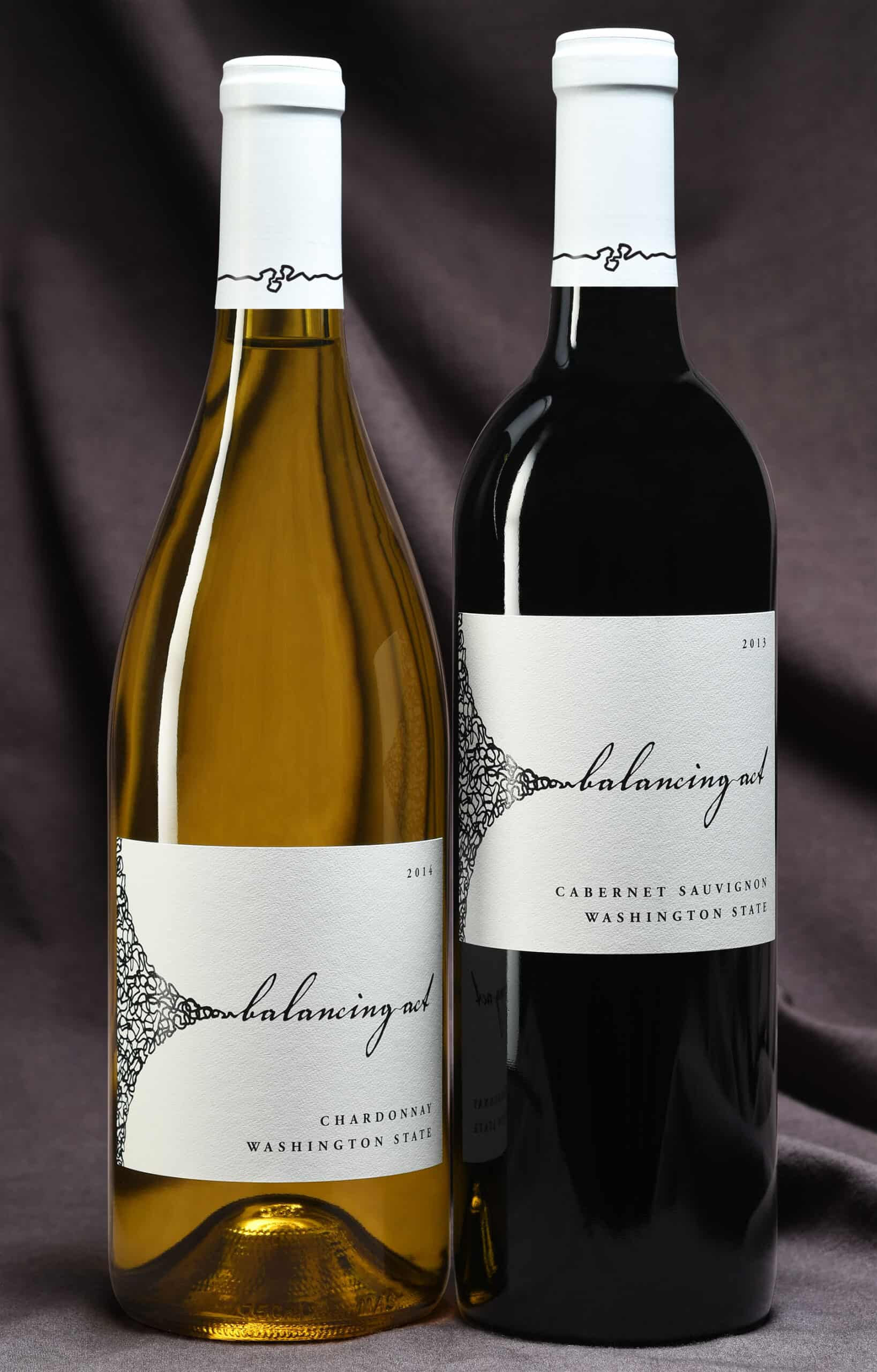 Balancing Act wine bottles