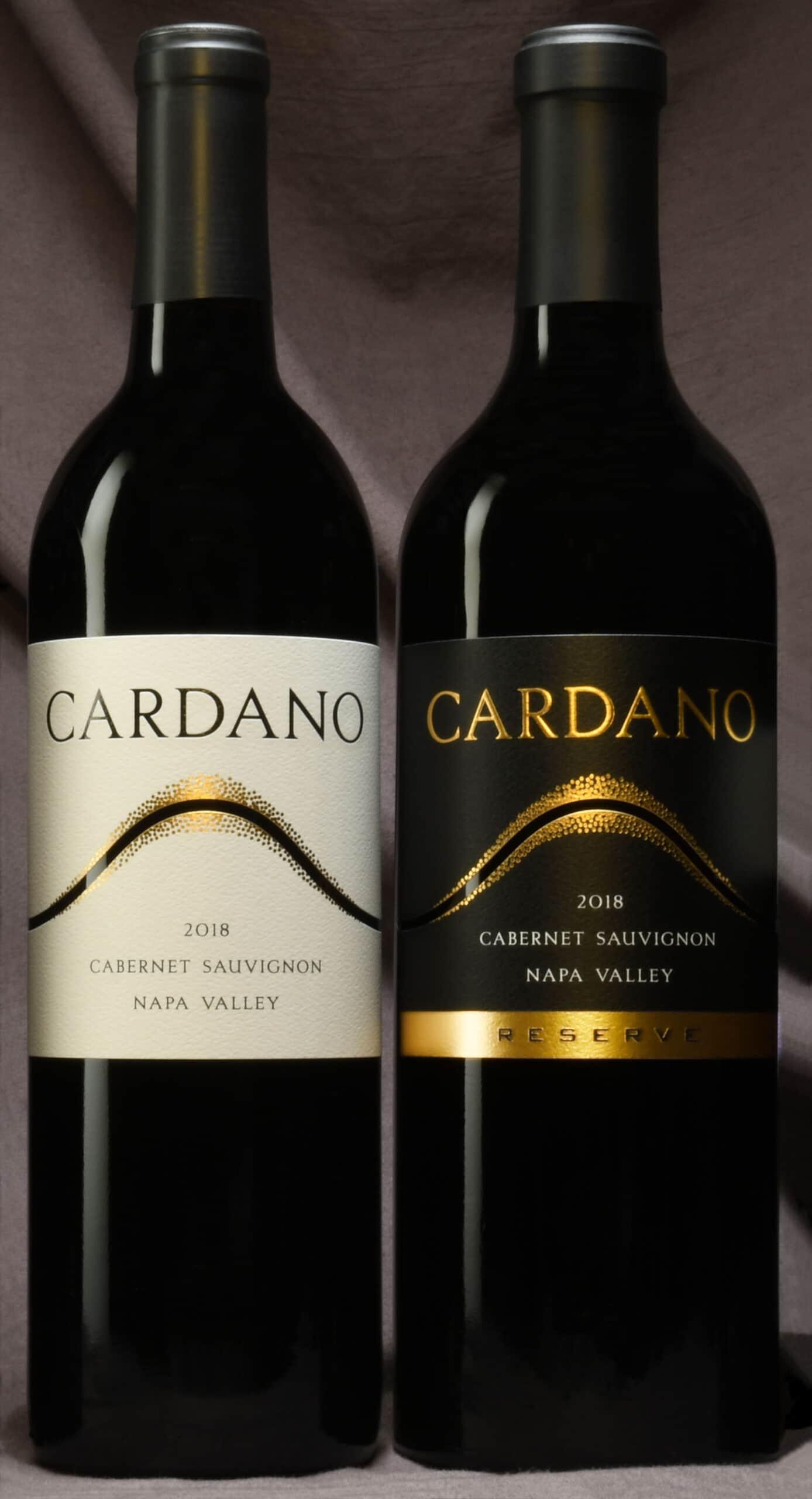 Cardano Cabernet Sauvignon wine bottles