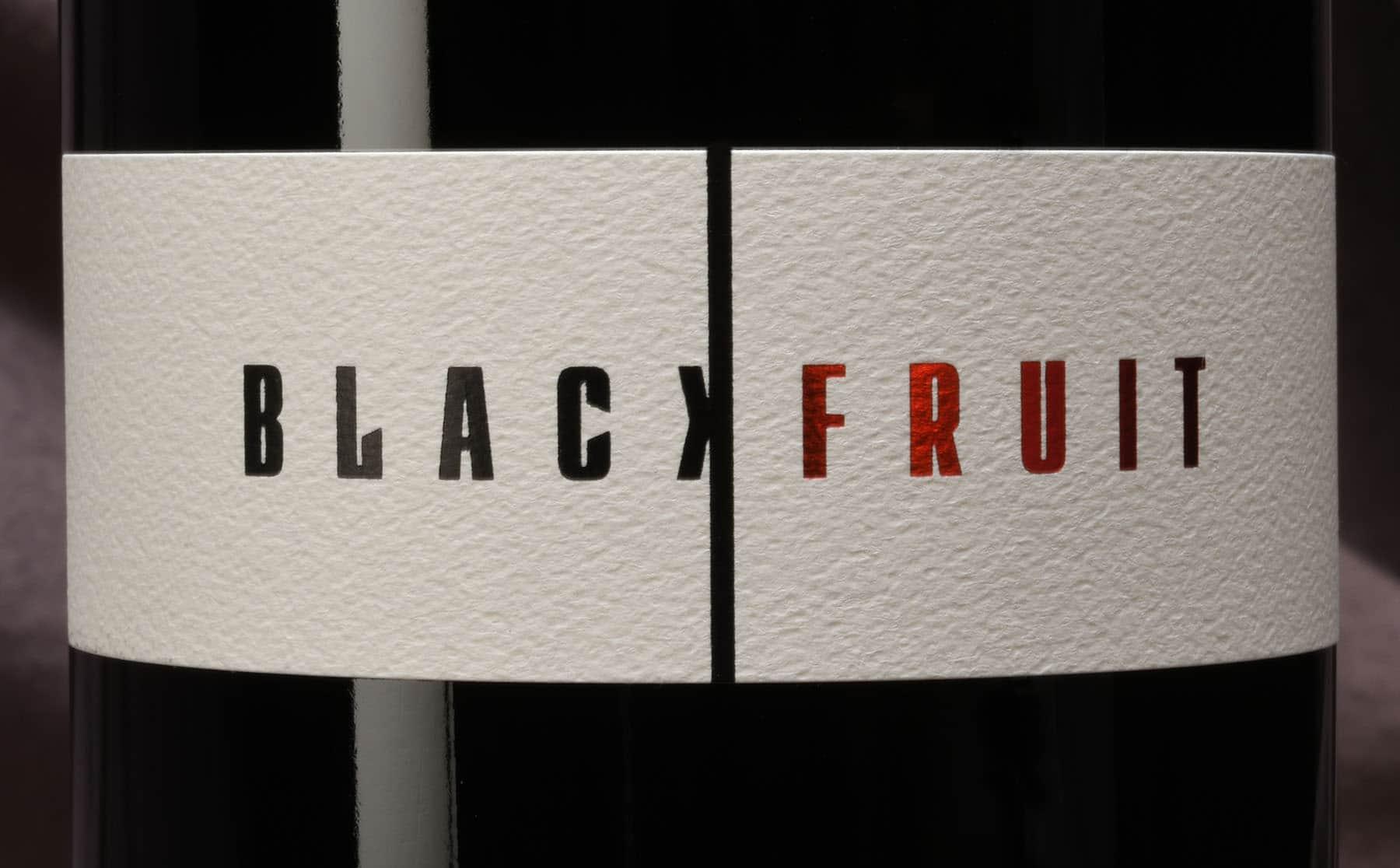 Cardano Black Fruit wine label