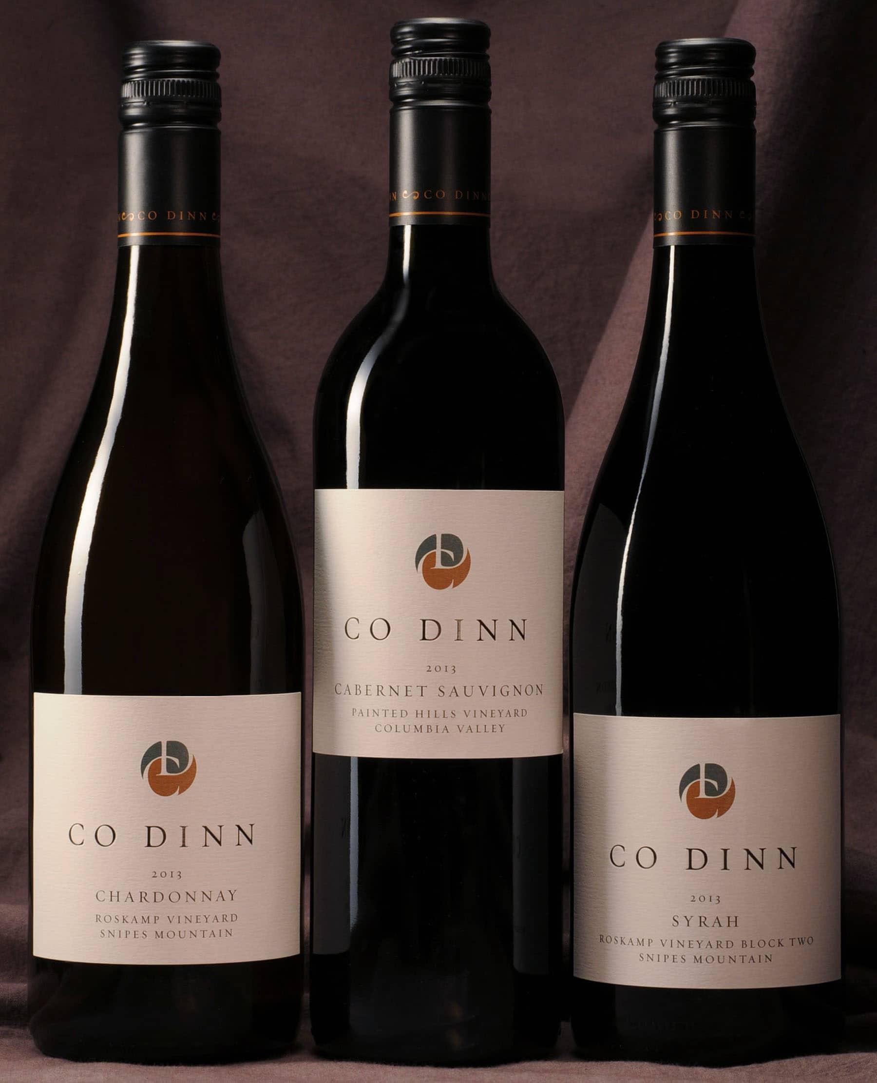Co Dinn Cellars wine bottles