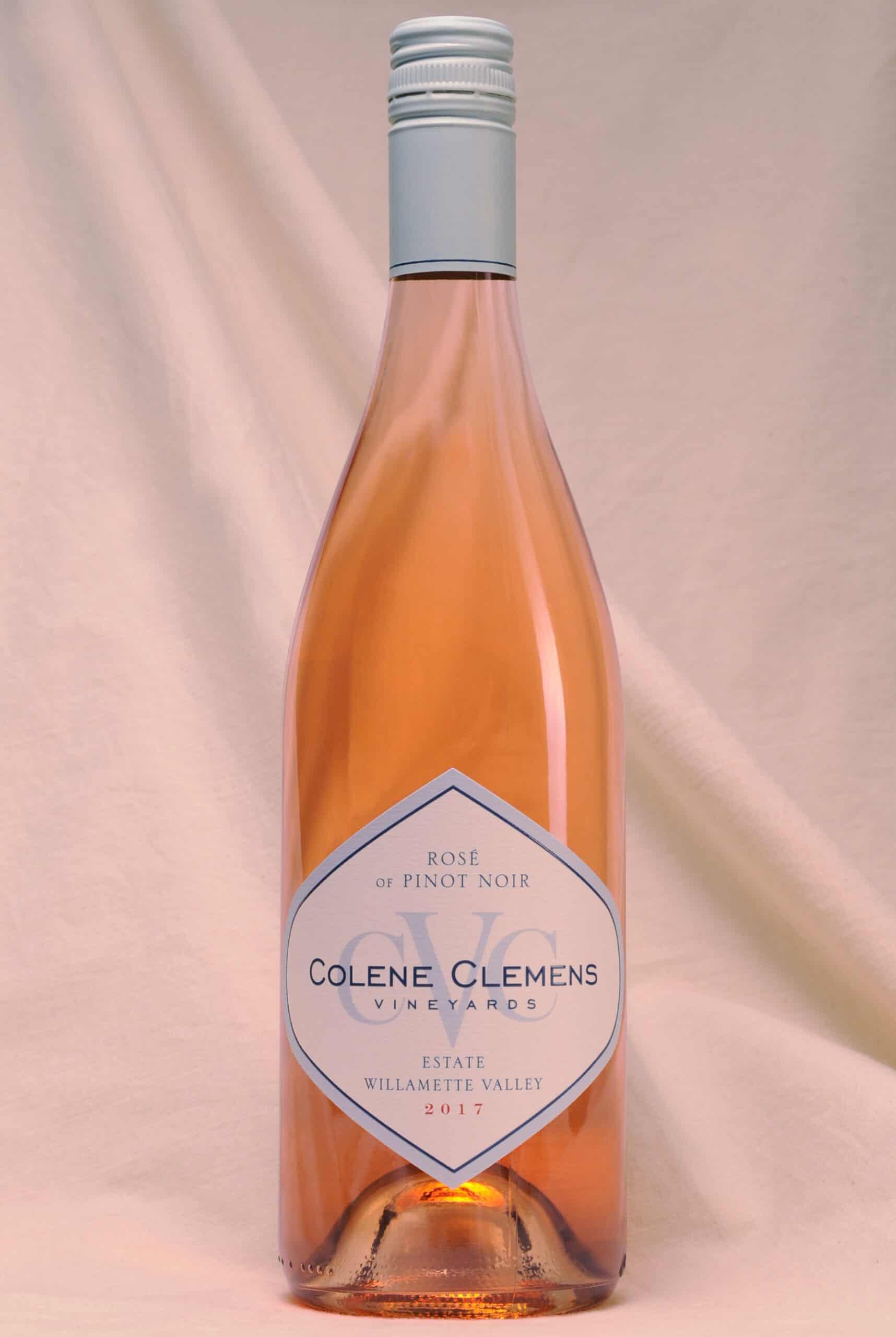 Colene Clemens Vineyards Rose of Pinto Noir wine bottle