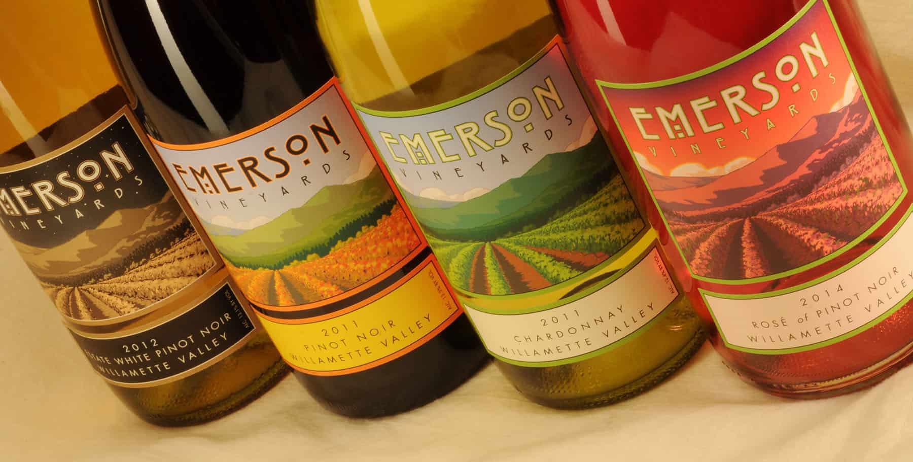 Emerson Vineyard group of bottles