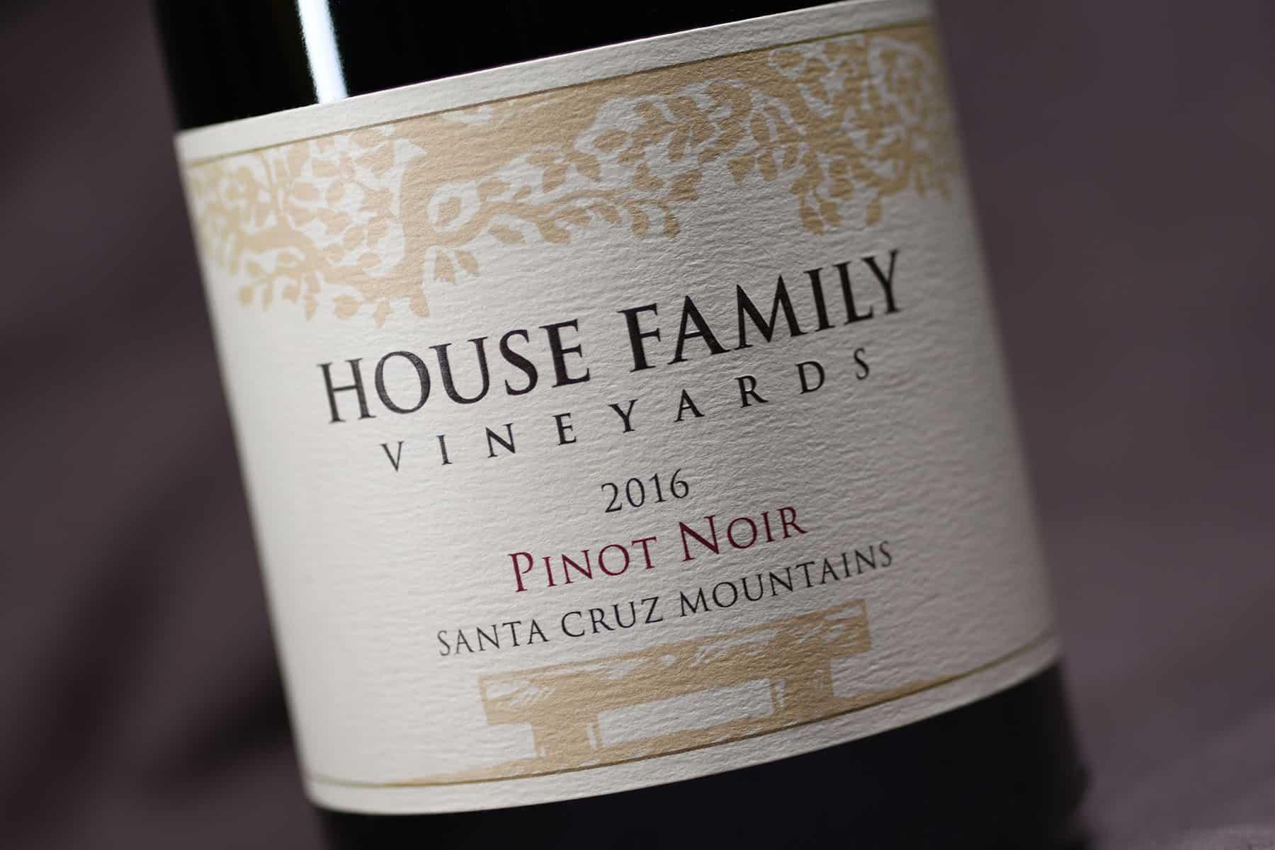 House Family Vineyards Pinot Noir label