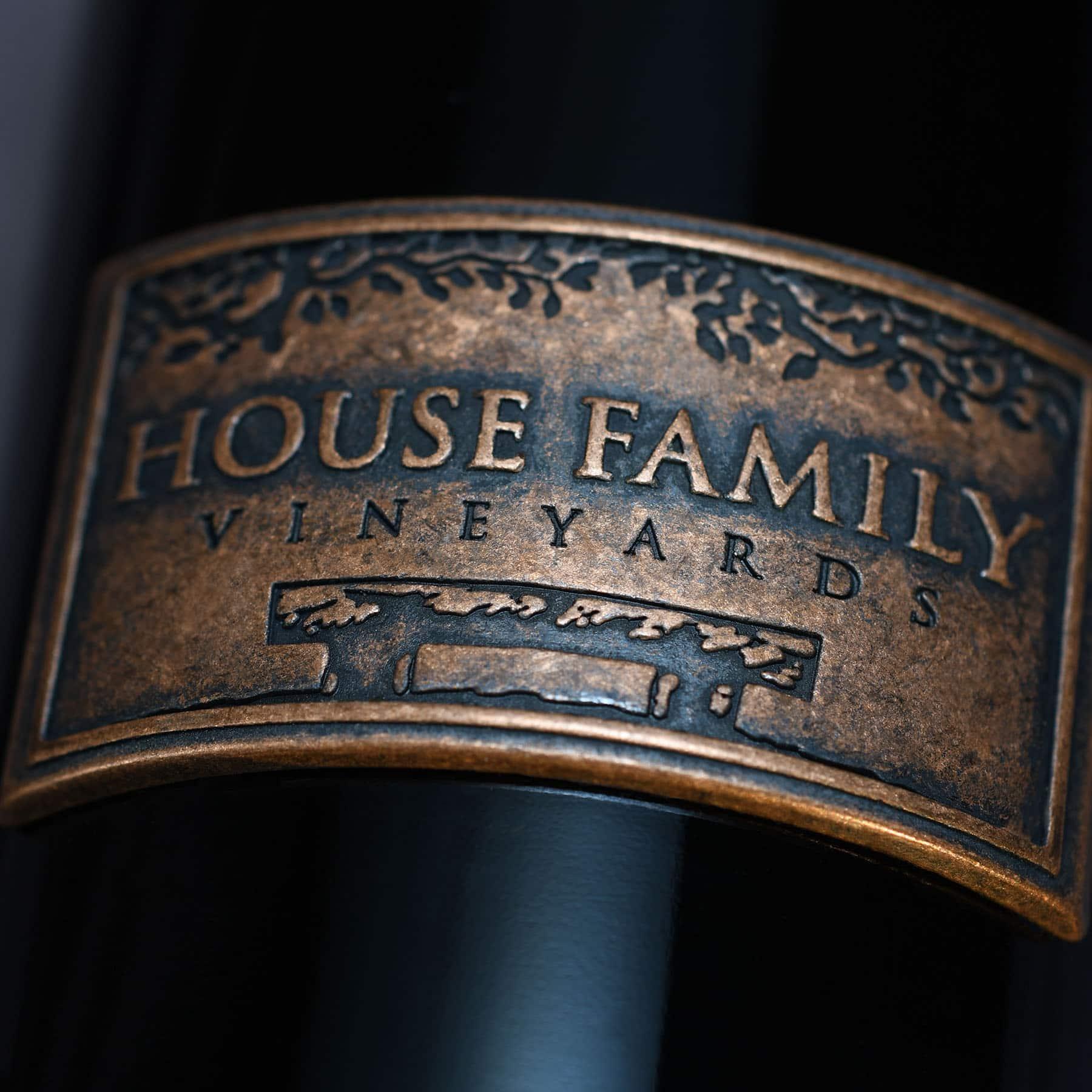 House Family Vineyards embossed logo