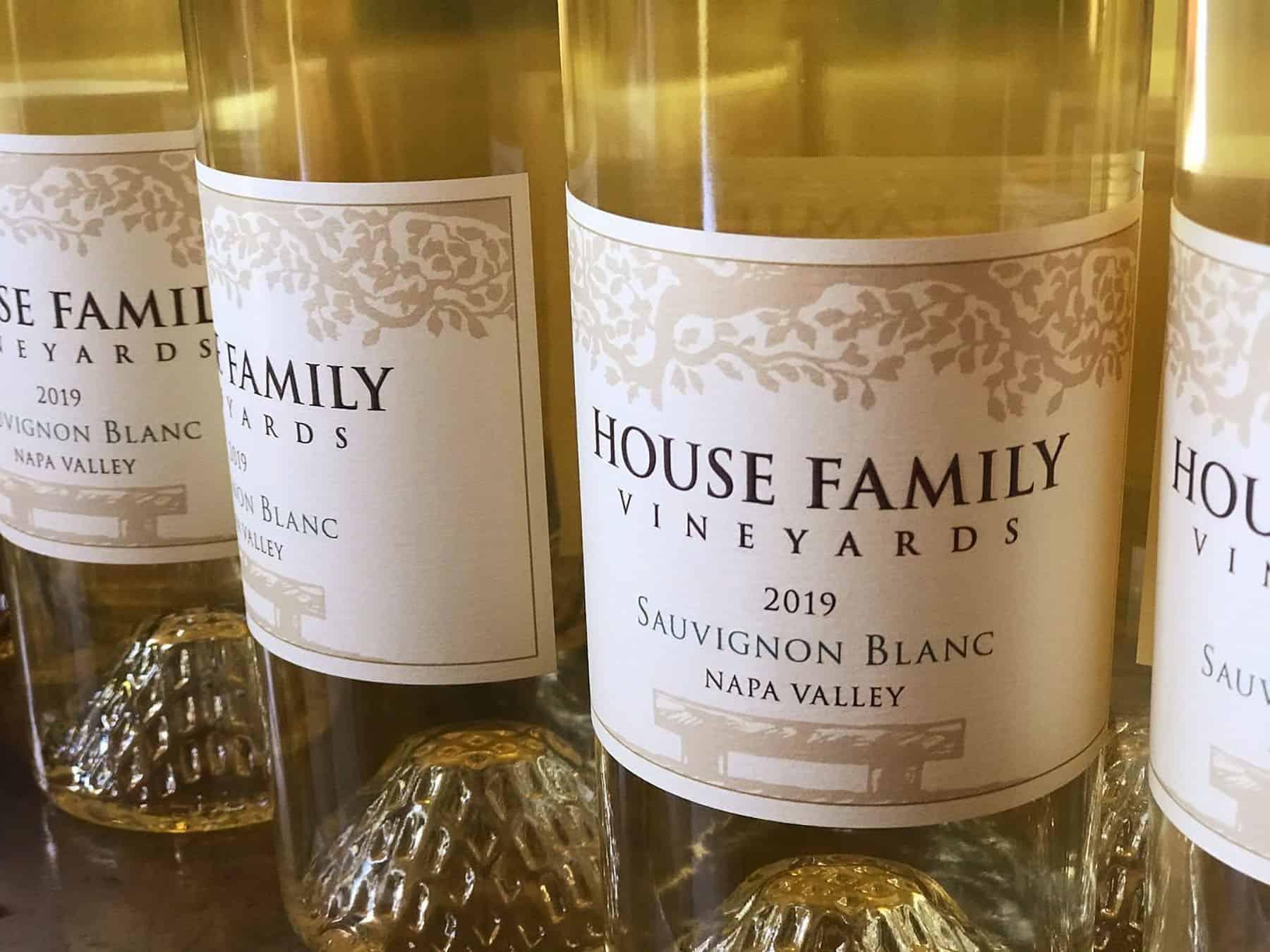 House Family Vineyards Sauvignon Blanc bottles