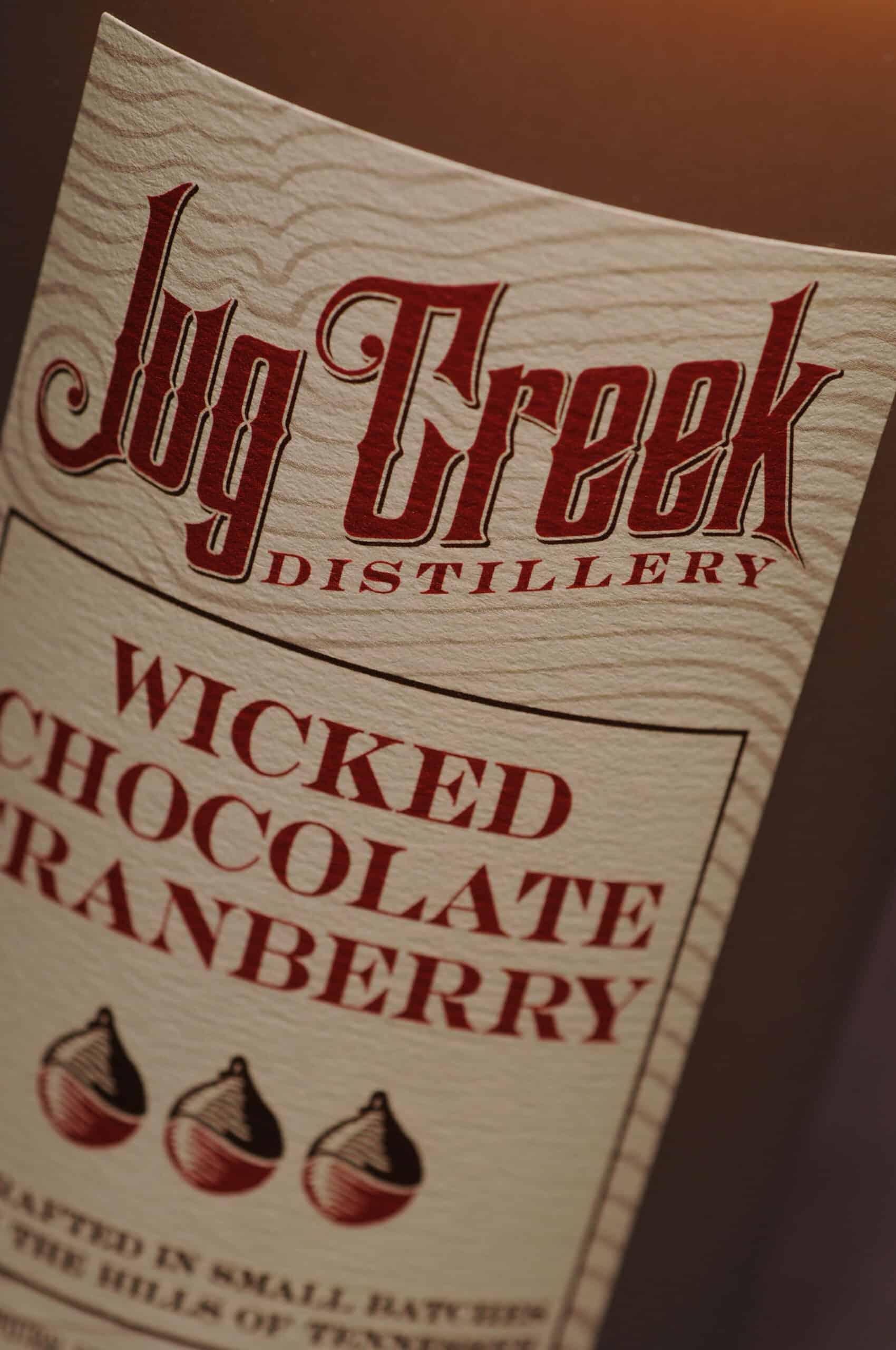 Jug Creek Wicked Chocolate Cranberry label