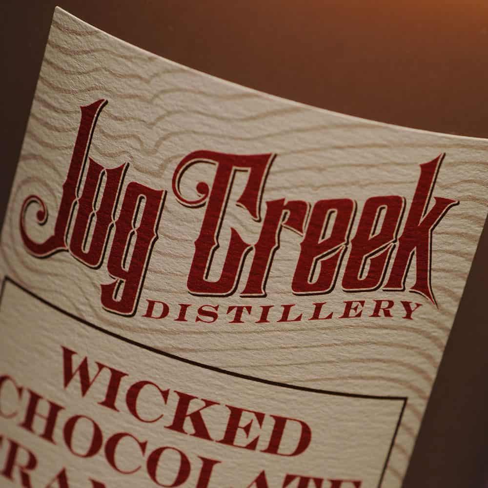 Jug Creek label close up