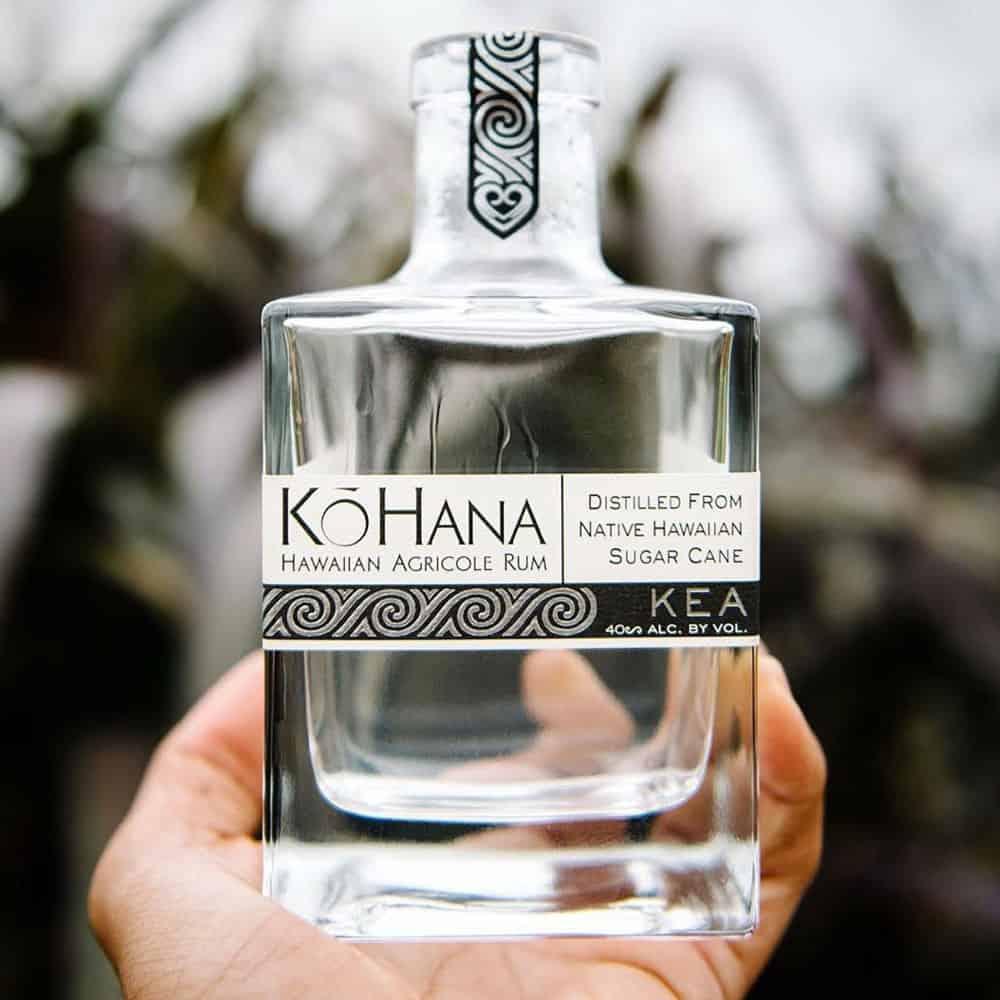 Kō Hana Hawaiian Agricole Rum bottle