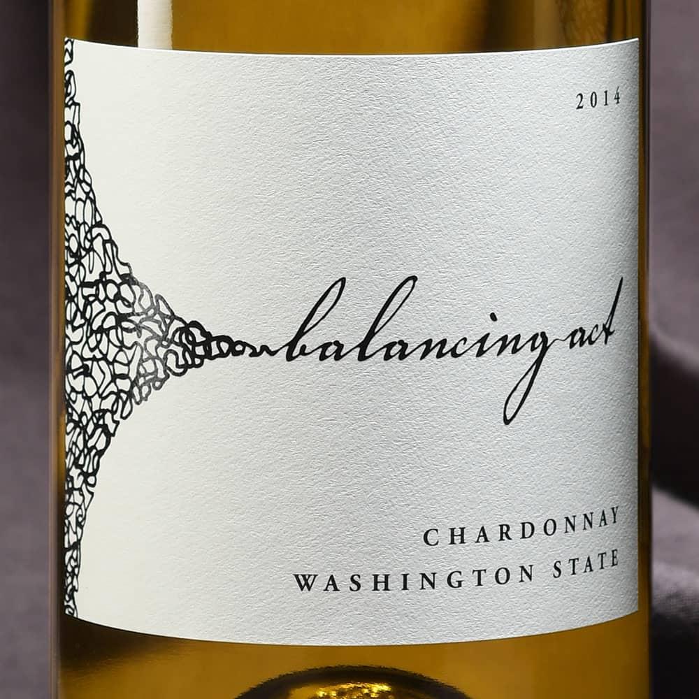 Balancing Act chardonnay label
