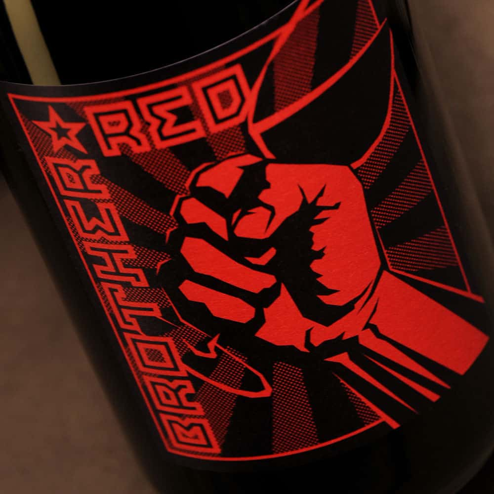 Brother Red wine label
