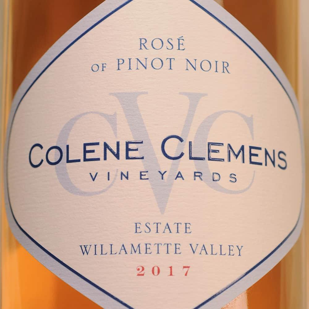 Colene Clemens Vineyards Rose of Pinto Noir label
