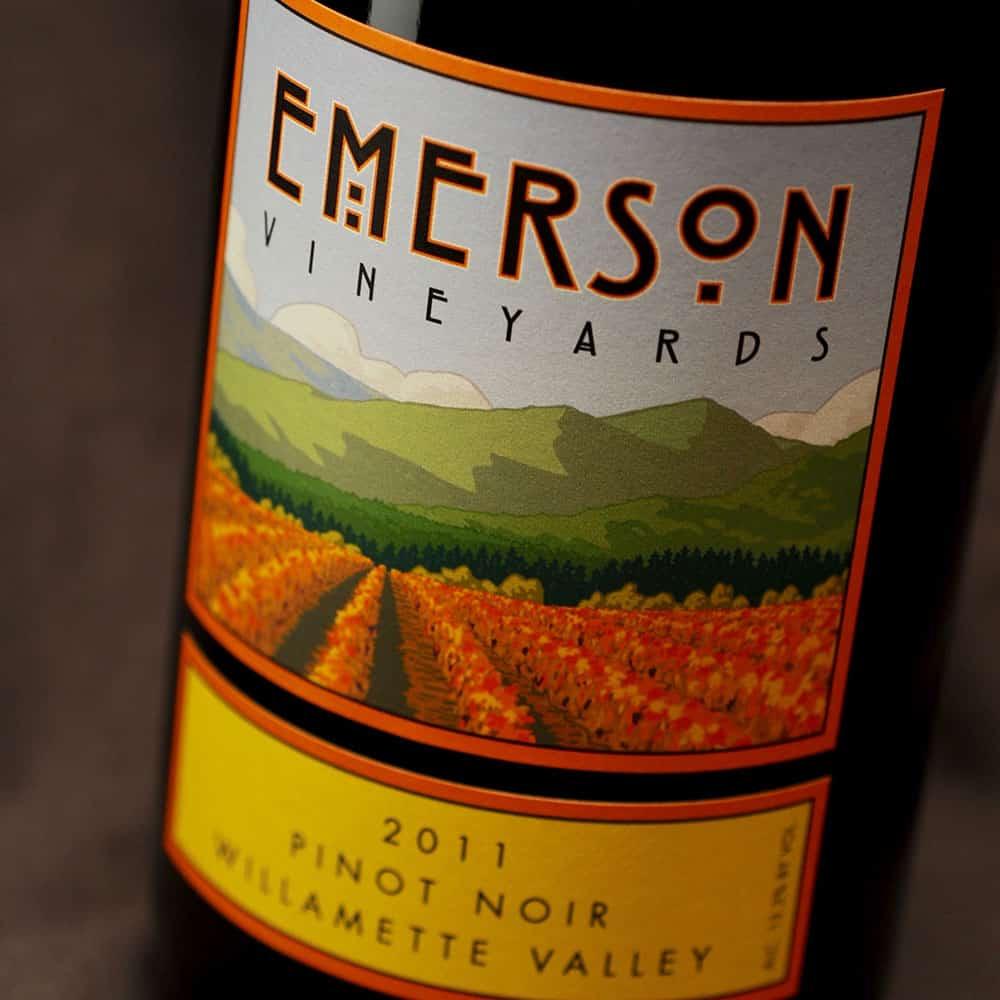 Emerson Vineyard Pinot Noir label