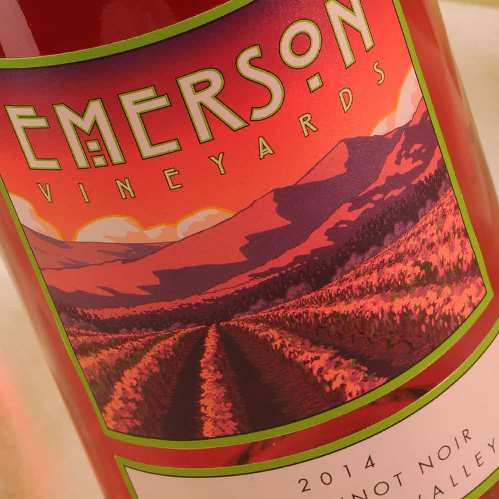 Emerson Vineyard Rose Pinot Noir label