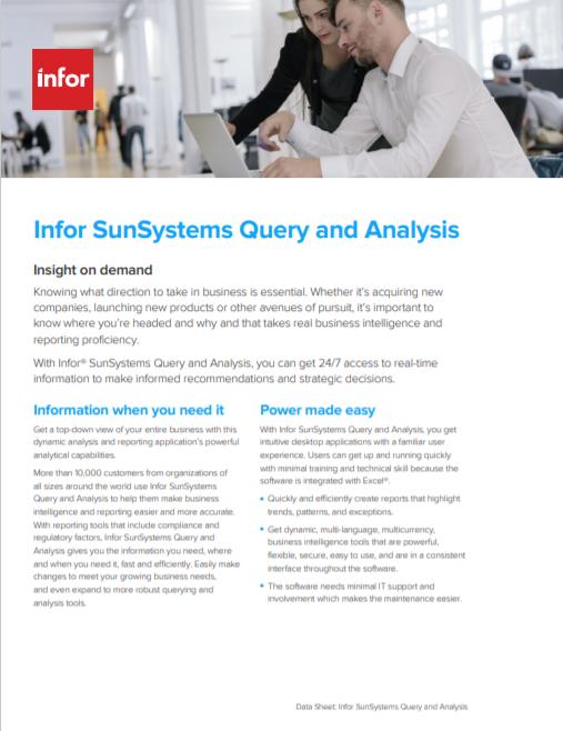 Infor SunSystems QA Brochure